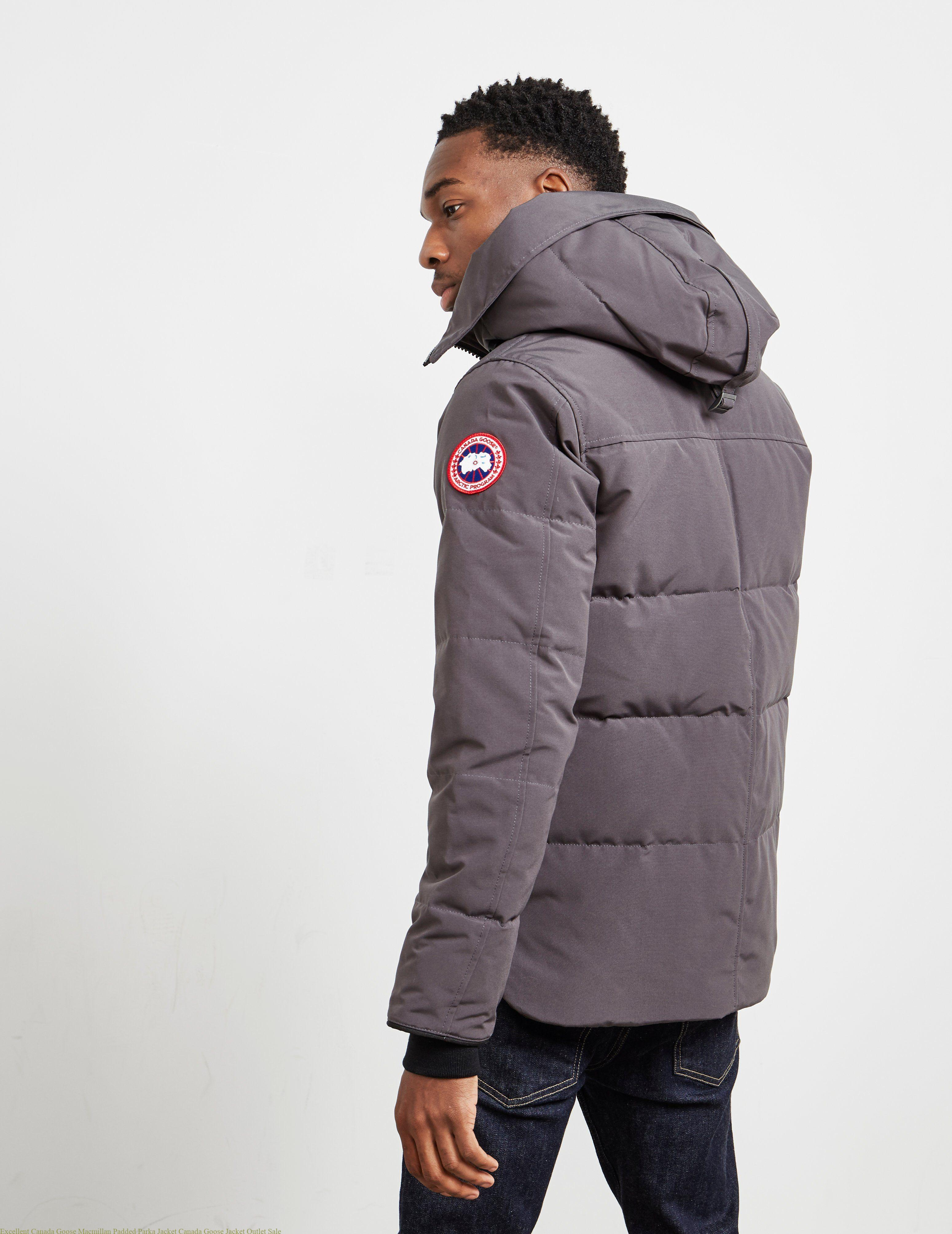 070d0bd04c1 Excellent Canada Goose Macmillan Padded Parka Jacket Canada Goose Jacket  Outlet Sale